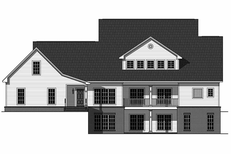 Country Exterior - Rear Elevation Plan #21-323 - Houseplans.com