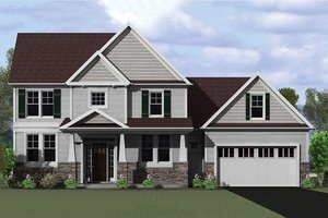 Architectural House Design - Craftsman Exterior - Front Elevation Plan #1010-117