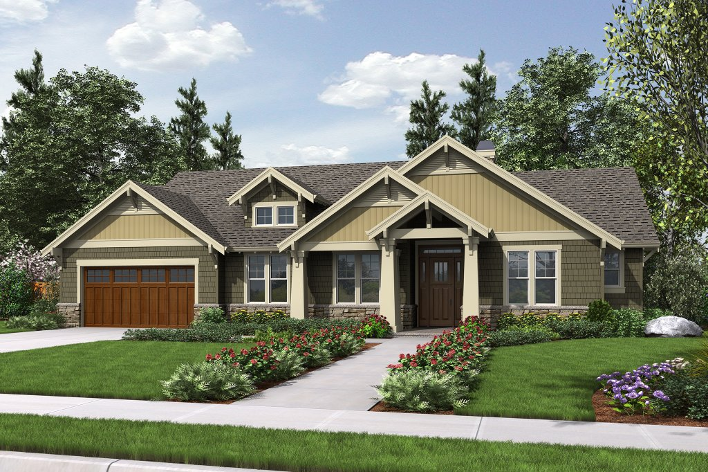 Craftsman style house plan 3 beds 2 baths 1868 sq ft for Weinmaster house plans