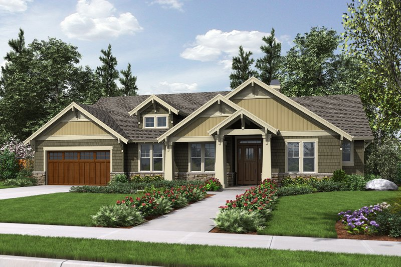 Architectural House Design - Craftsman Exterior - Front Elevation Plan #48-659