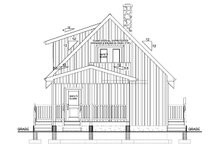 Home Plan - Cabin Exterior - Rear Elevation Plan #126-181
