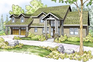 Craftsman Exterior - Front Elevation Plan #124-823