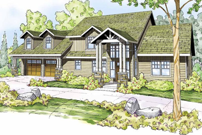 Home Plan - Craftsman Exterior - Front Elevation Plan #124-823