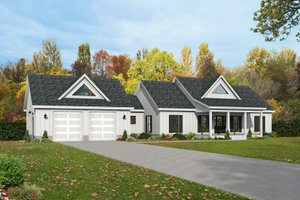 Farmhouse Exterior - Front Elevation Plan #932-388