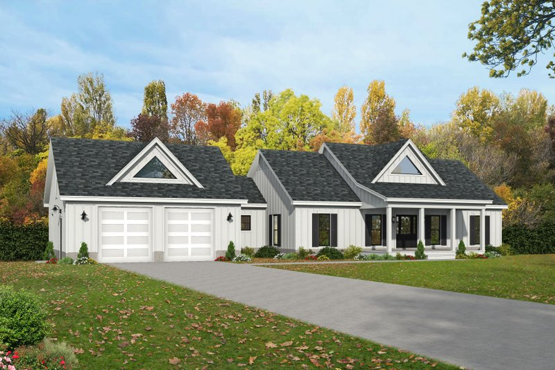 House Plan Design - Farmhouse Exterior - Front Elevation Plan #932-388
