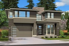 Modern Exterior - Front Elevation Plan #132-225