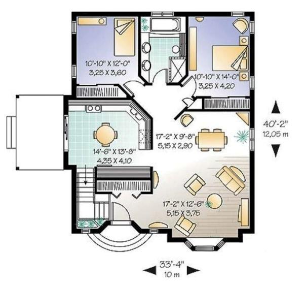 Cottage Floor Plan - Main Floor Plan Plan #23-599