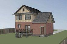 House Plan Design - Farmhouse Exterior - Rear Elevation Plan #79-257