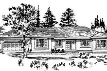 Ranch Exterior - Front Elevation Plan #18-144