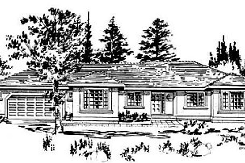 Ranch Exterior - Front Elevation Plan #18-144 - Houseplans.com
