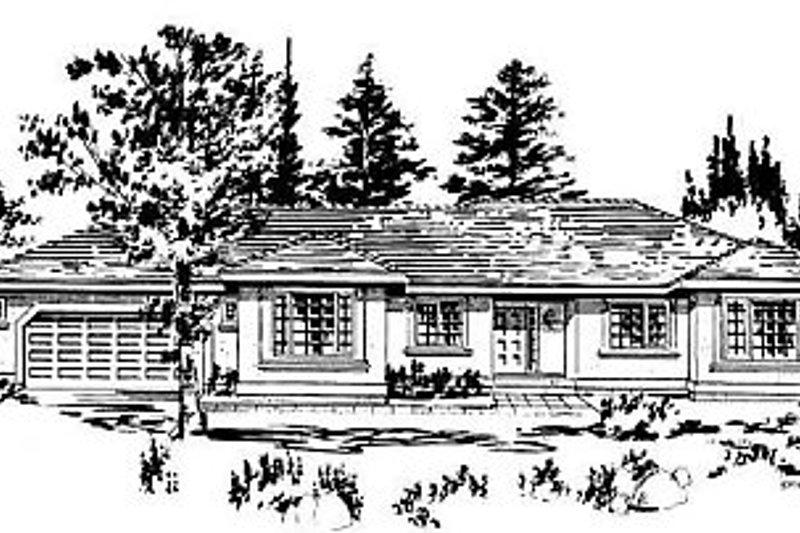 House Blueprint - Ranch Exterior - Front Elevation Plan #18-144