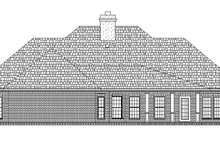 Home Plan - Traditional Exterior - Rear Elevation Plan #45-599