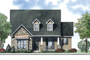 Craftsman Exterior - Front Elevation Plan #17-2411