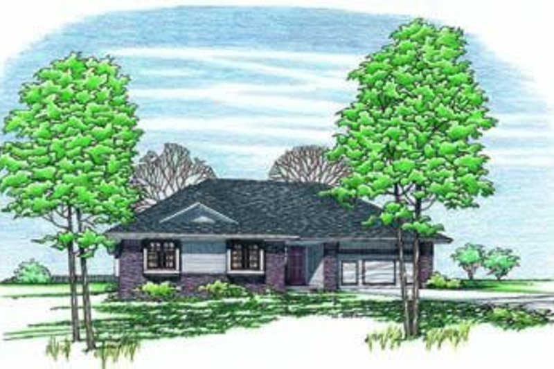 Home Plan Design - Traditional Exterior - Front Elevation Plan #20-417