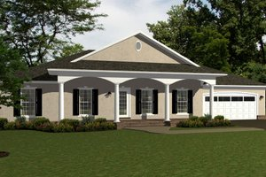 European Exterior - Front Elevation Plan #14-246