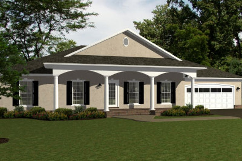 European Exterior - Front Elevation Plan #14-246 - Houseplans.com