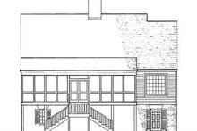 Southern Exterior - Rear Elevation Plan #137-110