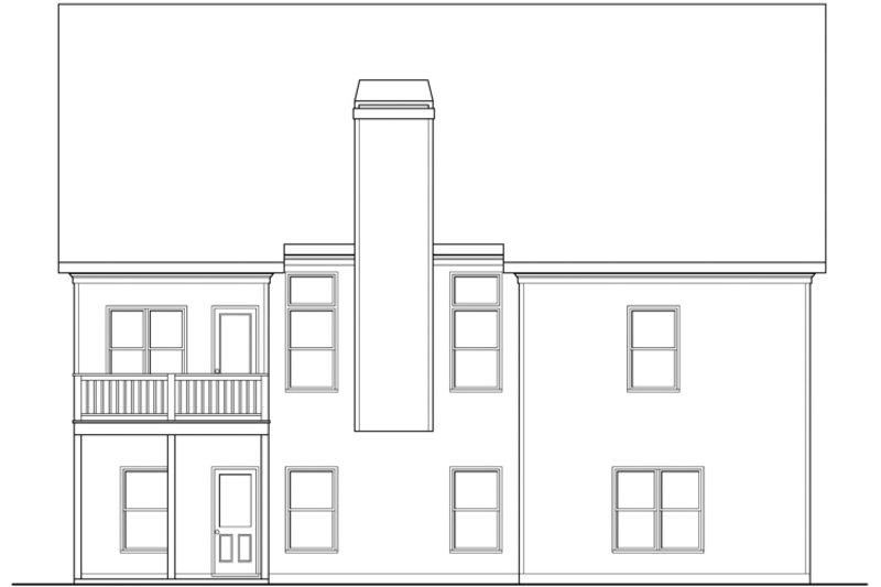 Craftsman Exterior - Rear Elevation Plan #419-252
