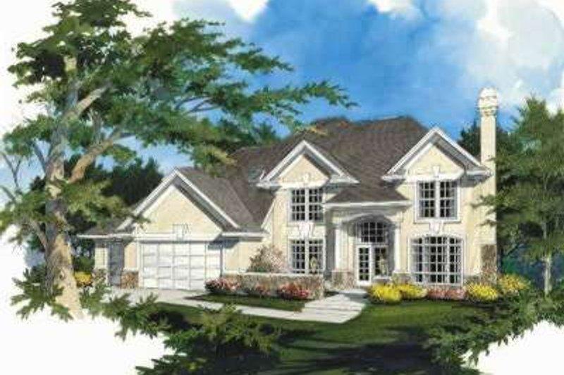 Dream House Plan - Mediterranean Exterior - Front Elevation Plan #48-182
