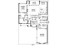 Tudor Floor Plan - Main Floor Plan Plan #84-613