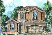 European Style House Plan - 3 Beds 2.5 Baths 2324 Sq/Ft Plan #27-347 Exterior - Front Elevation