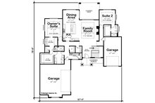 Craftsman Floor Plan - Main Floor Plan Plan #20-2367