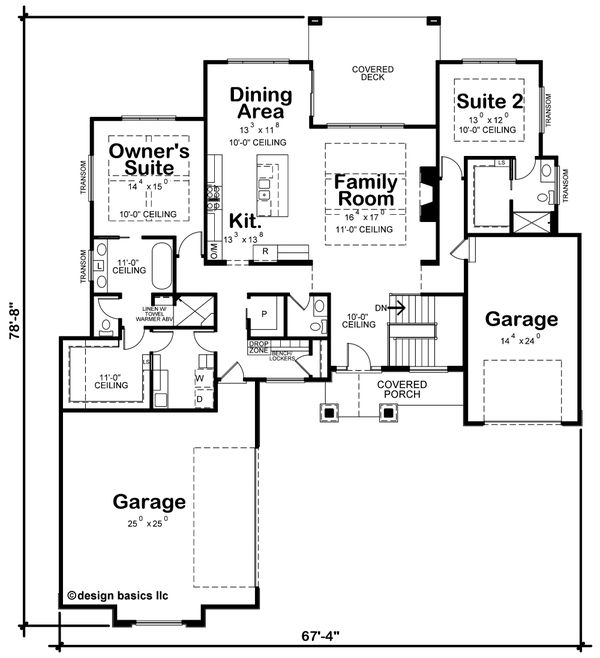 Craftsman Floor Plan - Main Floor Plan #20-2367