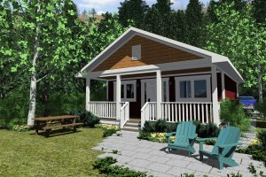 Home Plan - Cabin Exterior - Other Elevation Plan #126-149