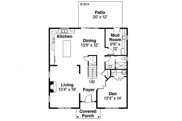 Colonial Floor Plan - Main Floor Plan Plan #124-958