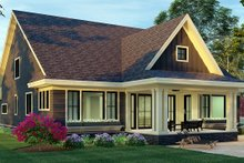 House Plan Design - Craftsman Exterior - Rear Elevation Plan #51-1174
