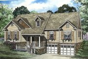 Traditional Style House Plan - 3 Beds 2 Baths 2010 Sq/Ft Plan #17-303 Exterior - Front Elevation