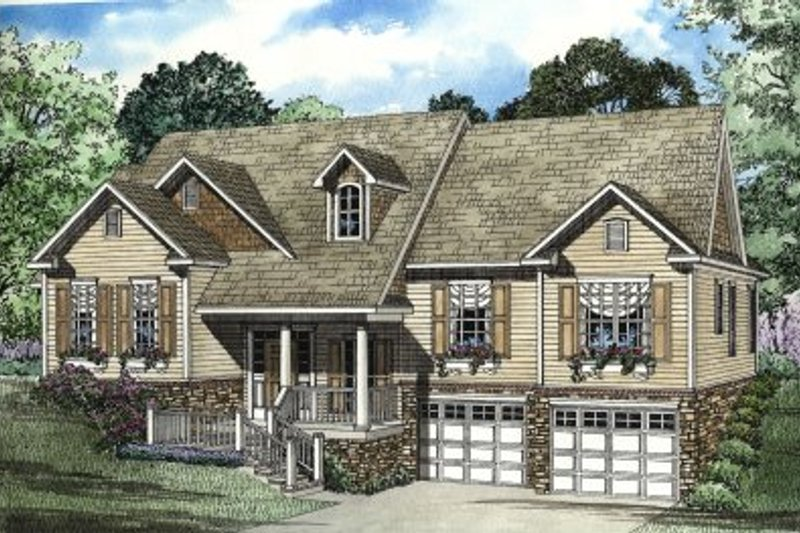 Architectural House Design - Traditional Exterior - Front Elevation Plan #17-303