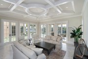 Mediterranean Style House Plan - 5 Beds 5.5 Baths 8001 Sq/Ft Plan #548-5 Interior - Family Room
