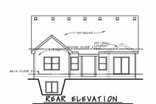 House Plan Design - Craftsman Exterior - Rear Elevation Plan #20-2414