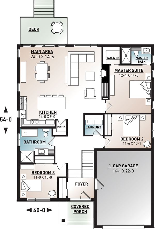 Modern Floor Plan - Main Floor Plan Plan #23-2698