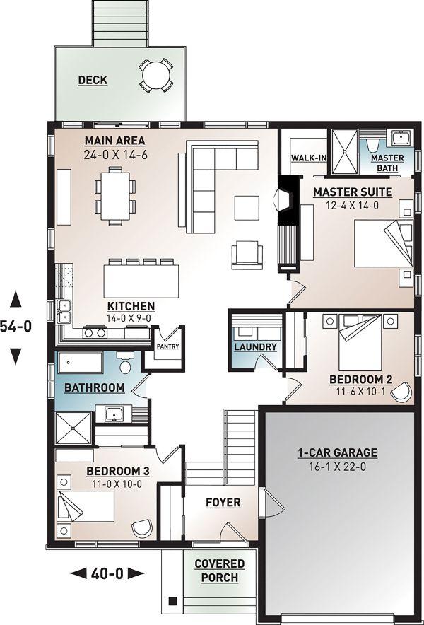 Modern Floor Plan - Main Floor Plan Plan #23-2698