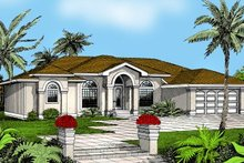 Architectural House Design - Mediterranean Exterior - Front Elevation Plan #95-113