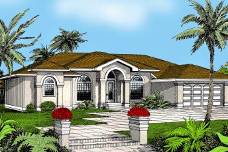 Mediterranean Exterior - Front Elevation Plan #95-113 - Houseplans.com