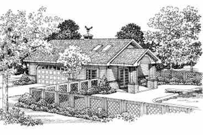 House Blueprint - Traditional Exterior - Front Elevation Plan #72-274