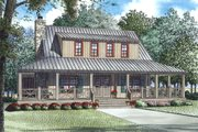 Country Style House Plan - 3 Beds 3 Baths 1792 Sq/Ft Plan #17-2558 Exterior - Front Elevation