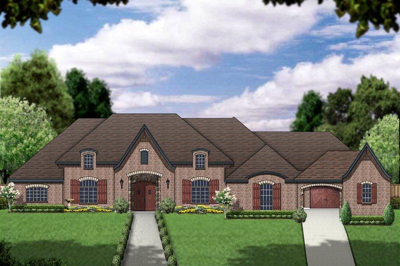 Dream House Plan - European Exterior - Front Elevation Plan #84-426