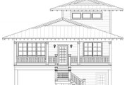 Beach Style House Plan - 4 Beds 4 Baths 2000 Sq/Ft Plan #932-274 Exterior - Front Elevation