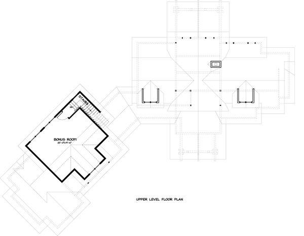 Ranch Floor Plan - Upper Floor Plan Plan #895-29