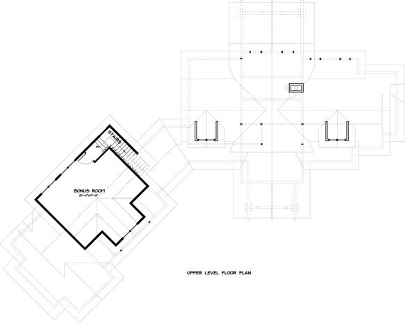 Ranch Floor Plan - Upper Floor Plan #895-29