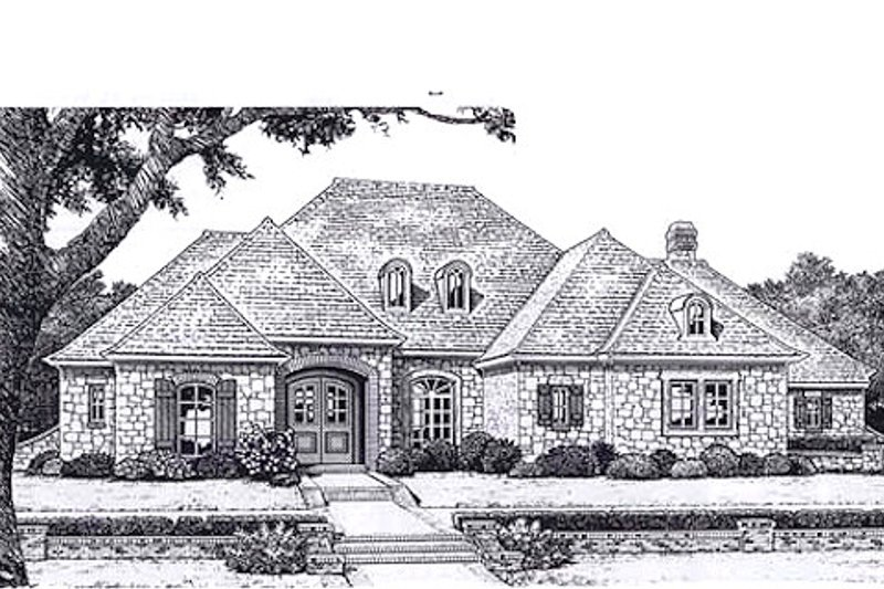 European Exterior - Front Elevation Plan #310-938