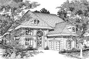 House Plan - 3 Beds 3.5 Baths 4124 Sq/Ft Plan #329-316 Exterior - Front Elevation