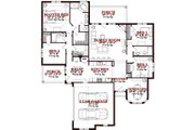 Traditional Style House Plan - 4 Beds 3 Baths 2204 Sq/Ft Plan #63-306 Floor Plan - Main Floor Plan