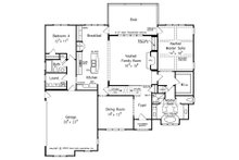 European Floor Plan - Main Floor Plan Plan #927-18