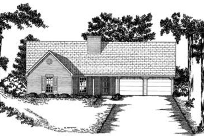 Ranch Exterior - Front Elevation Plan #36-255