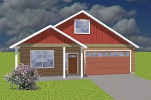 Ranch Exterior - Front Elevation Plan #423-70